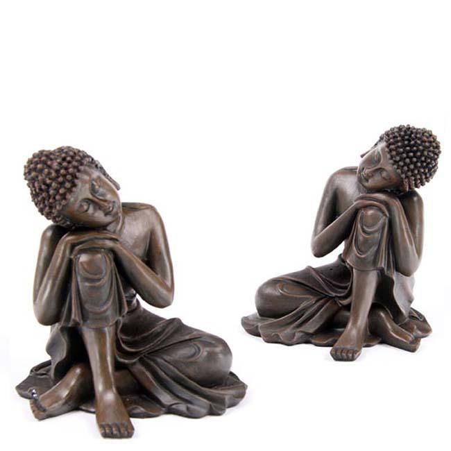Mini Urne Schlafende Indische Buddha Vorteilset Bronze (0,3 Liter) Bronze Urnen