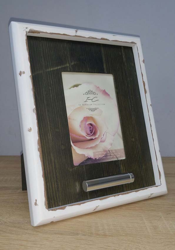 Design Fotorahmen mit Aschenröhre Vintage (0,02 Liter) Rahmenurnen