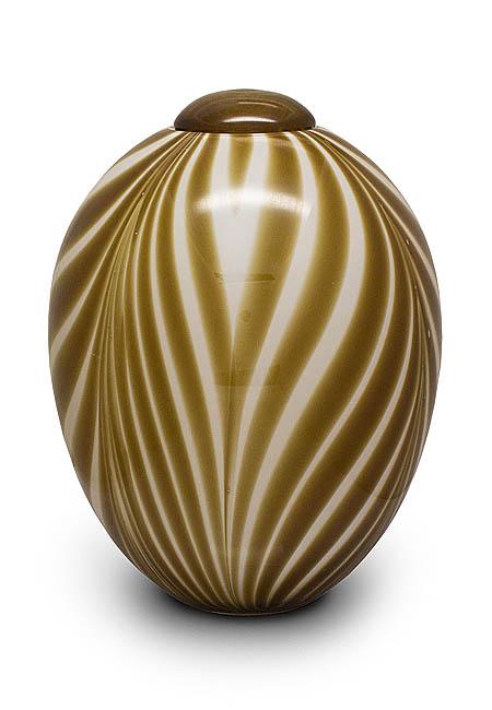 Große Gläser Urne Beige Weiß (4,7 Liter) Glasfaser Urnen