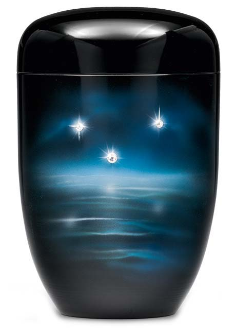 Biologische Abbaubare Öko Urne Funkelnde Sterne (4,0 Liter) Ökologische Urnen