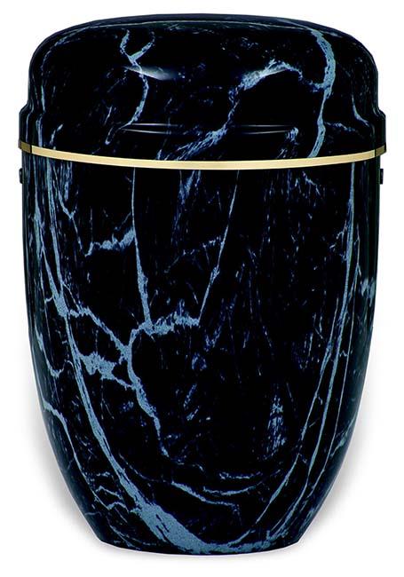 Blau Marmorierte Design Urne, Goldene dekorative Kante (4,0 Liter) Edelstahl Urnen