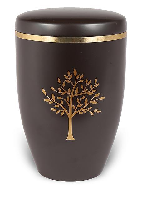 Design Urne Dunkelbraune Schmetterlinge (4,8 Liter) Edelstahl Urnen