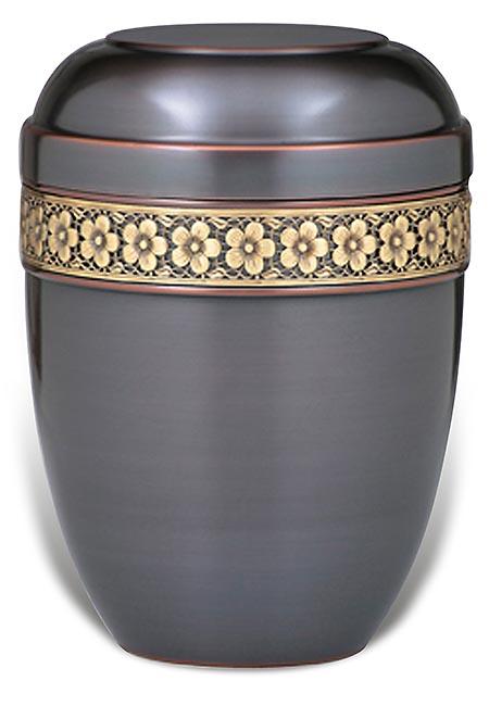 Design Urne mit klassischem Messing Dekorband (4,0 Liter) Günstige Urnen