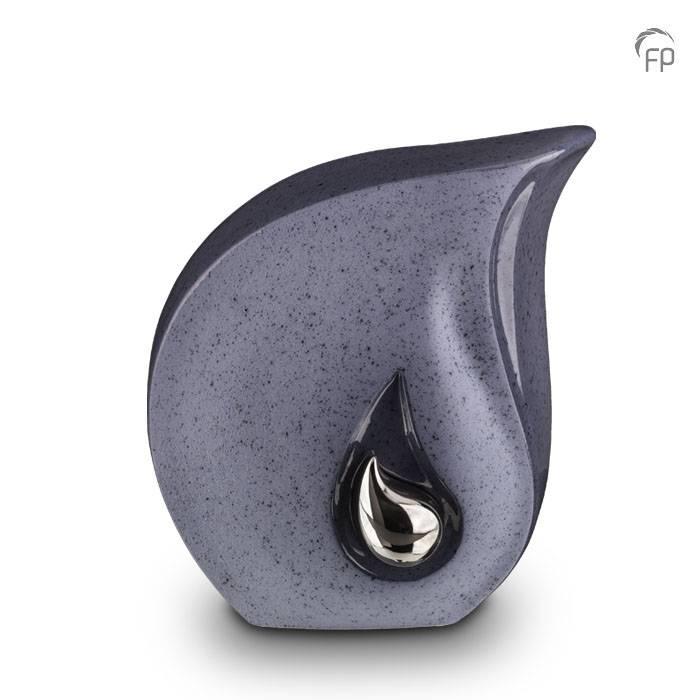 Große Keramische Träne Urne Blau Grau (3,8 Liter) Keramik Urnen