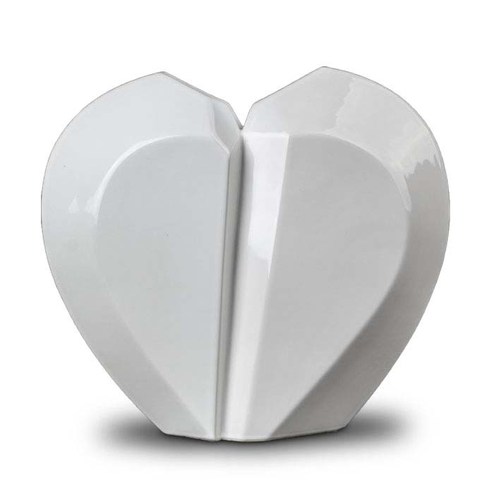 Extra Große Keramische Gebrochenes Herz Urne (5,1 Liter) Keramik Urnen