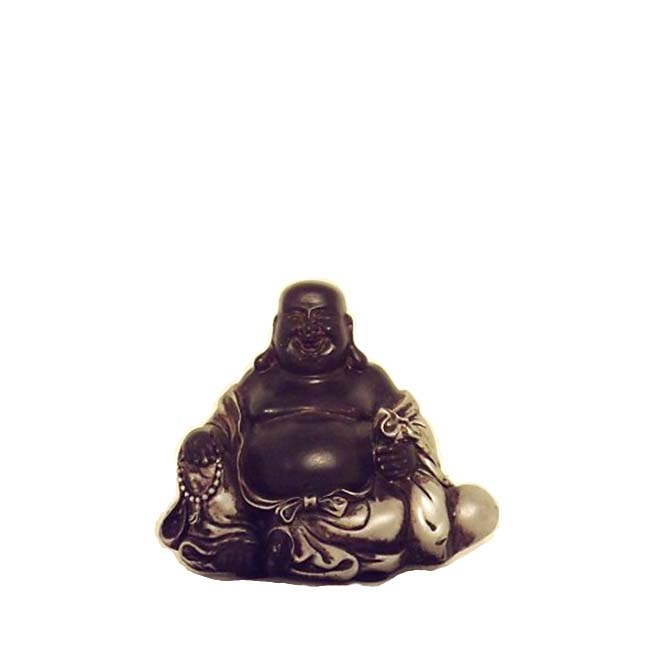 Glücklich Buddha Urne Schwarz-Silber XS MiniUrne (0,025 Liter) Buddha Urnen
