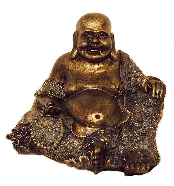 Große Bauche Buddha Urne Bronze (4,5 Liter) Buddha Urnen