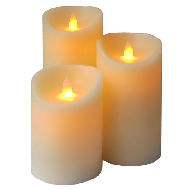 LED-Kerze Gedenklicht Set (11, 15 und 18 cm) LED-Kerzen