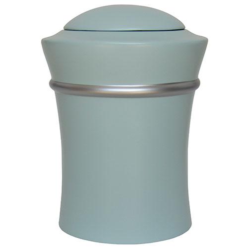 Runde Harz Vase Urne mit silberner Rand (3,5 Liter) Harz Urnen