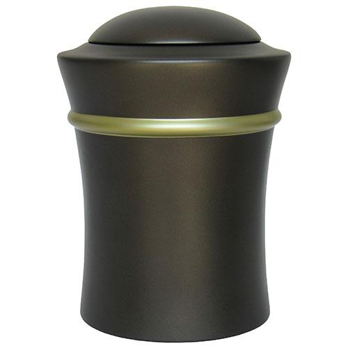 Runde Harz Vase Urne mit Goldband (3,5 Liter) Harz Urnen