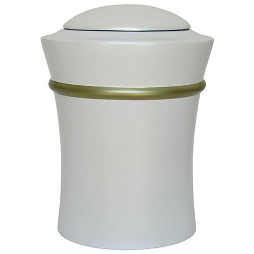 Runde Harz Vase Urne mit goldener Rand (3,5 Liter) Harz Urnen