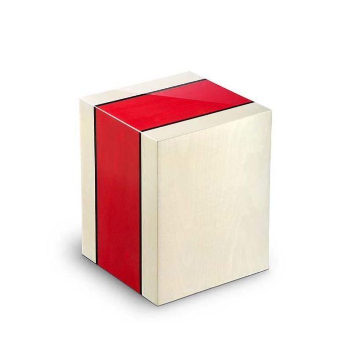 Rechteckige Urne Columbarium Venezia Rosso (5,0 Liter) Holz Design Urnen