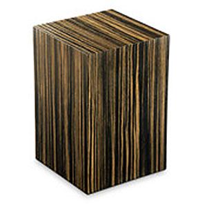 Rechteckige Urne Essential Ebano Zebrato (7,0 Liter) Holz Design Urnen