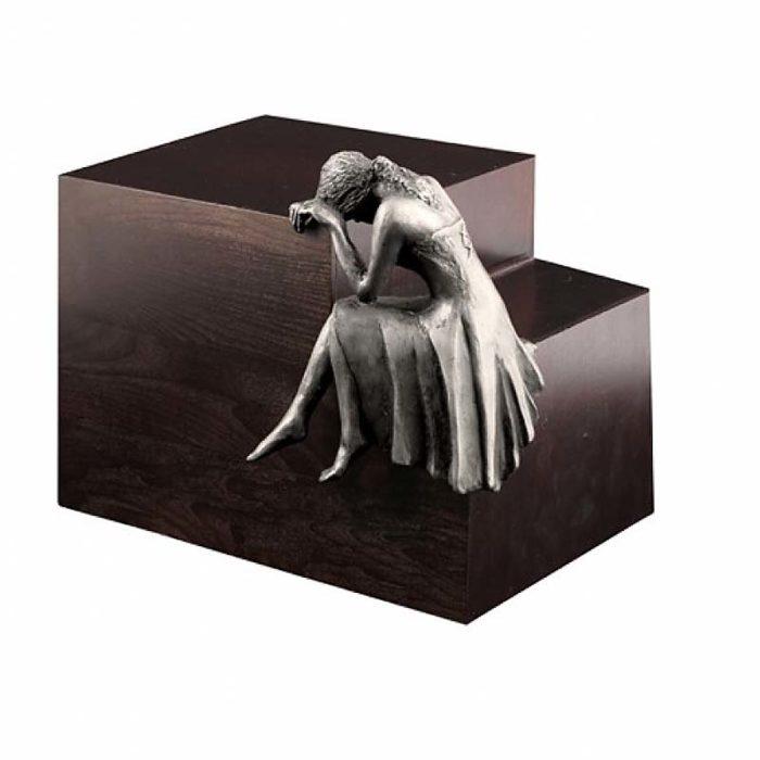Große Design Urne Trauere Engel Stahl (4,8 Liter) Engel Urnen