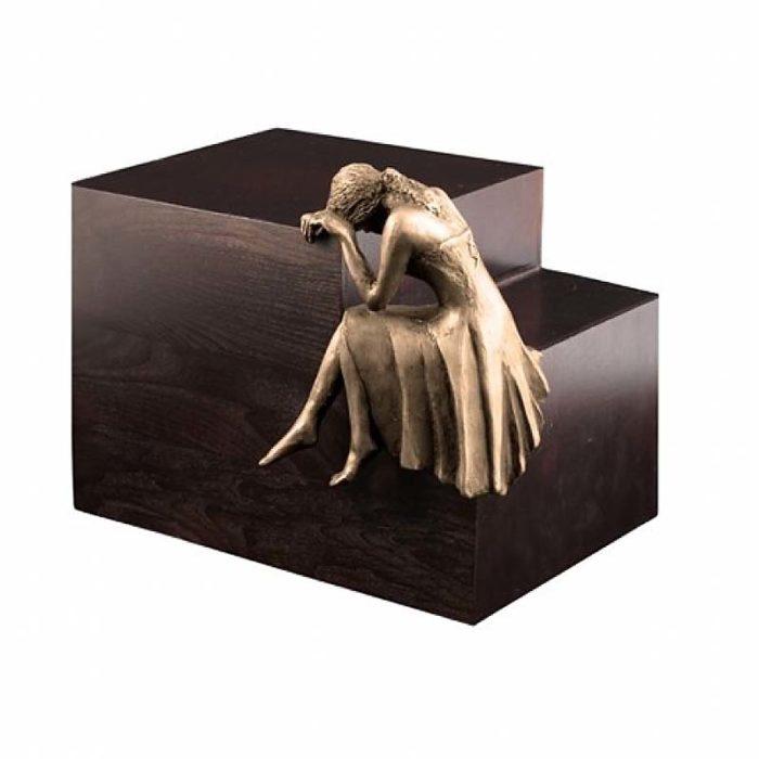 Große Design Urne Trauere Engel Bronze (4,8 Liter) Engel Urnen