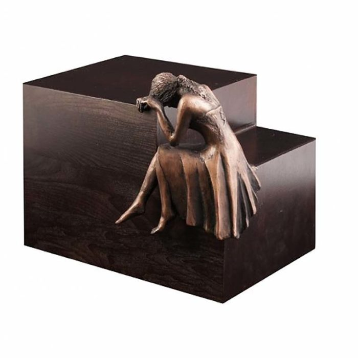 Große Design Urne Trauere Engel Kupfer (4,8 Liter) Engel Urnen