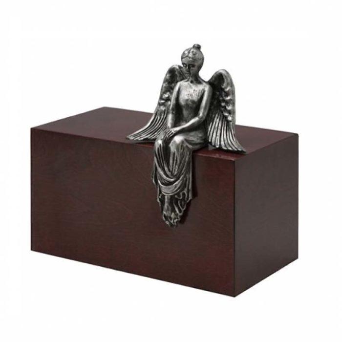 Große Design Urne Meditieren Engel Stahl (4,8 Liter) Engel Urnen