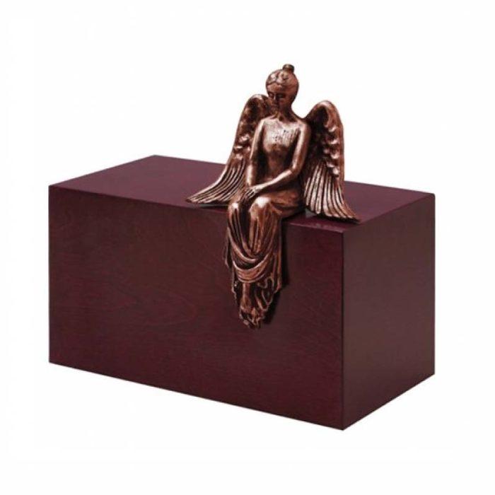 Große Design Urne Meditieren Engel Kupfer (4,8 Liter) Engel Urnen