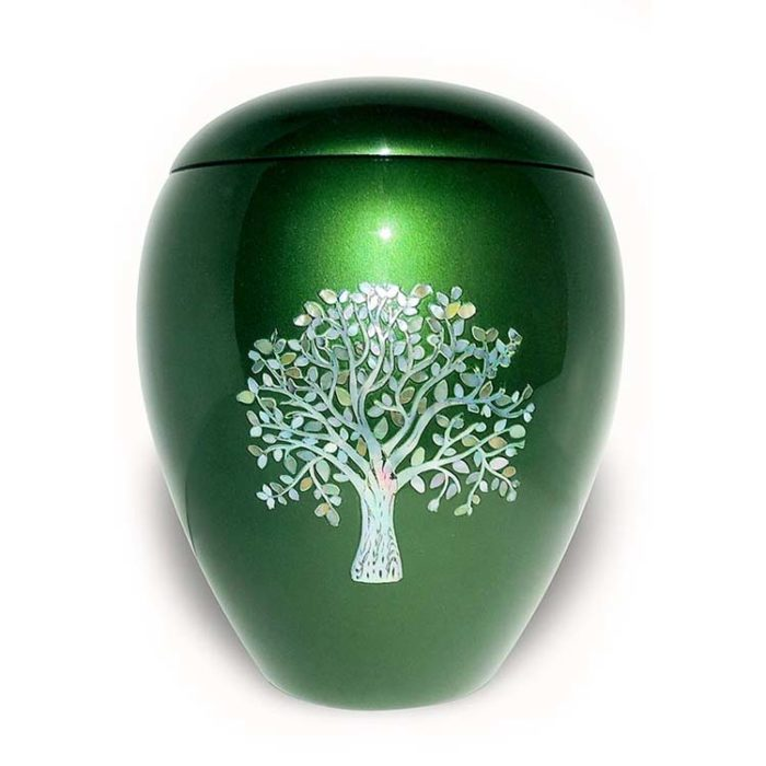 Große Fiberglas Urne Lebensbaum (4,5 Liter) Glasfaser Urnen