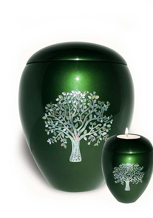 Fiberglas Urne Vorteilset Lebensbaum (4,5 und 0,1 Liter) Glasfaser Urnen