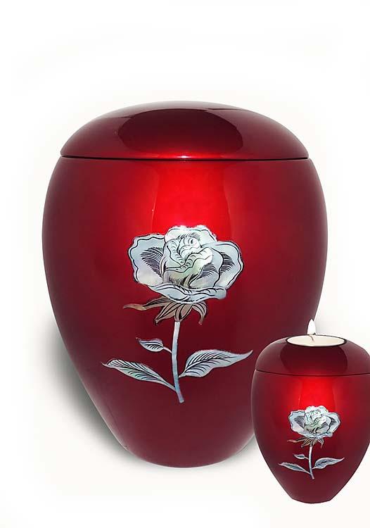 Fiberglas Urne Vorteilset Rose (4,5 und 0,1 Liter) Glasfaser Urnen