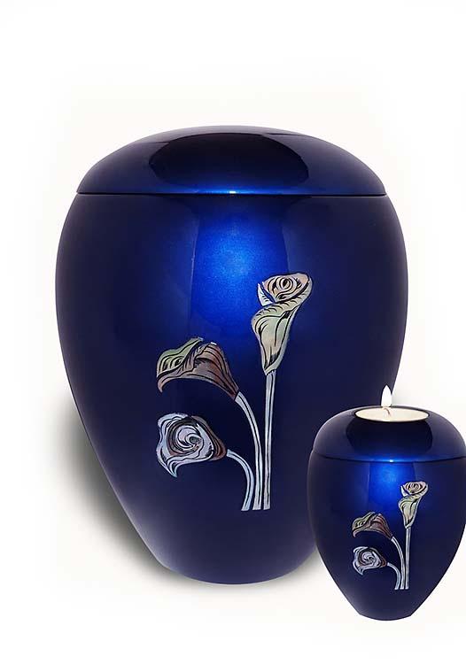 Fiberglas Urne Vorteilset Lilie (4,5 und 0,1 Liter) Glasfaser Urnen