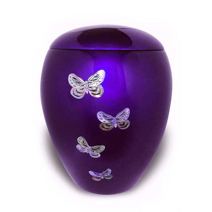 Große Fiberglas Urne Schmetterlinge (4,5 Liter) Glasfaser Urnen