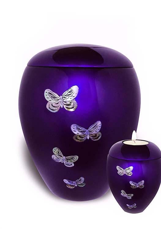 Fiberglas Urne Vorteilset Schmetterling (4,5 und 0,1 Liter) Glasfaser Urnen
