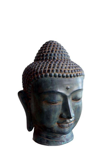 Bronze Buddha Urne Kopf (1,9 Liter) Buddha Urnen