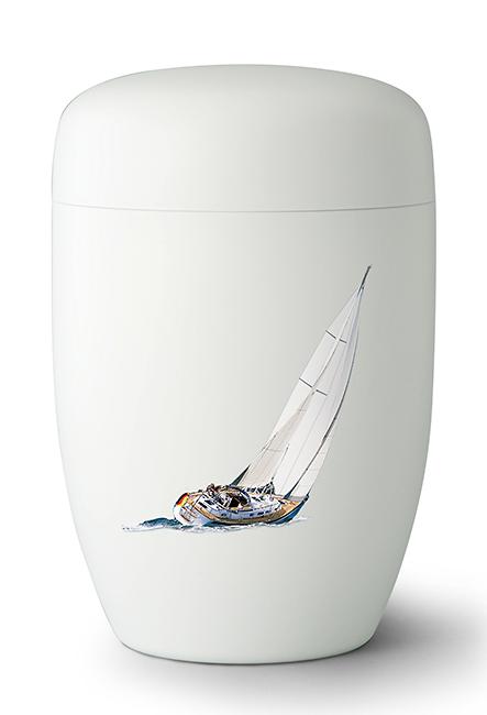Biologische Abbaubare Öko Urne ´Sail Away´ Segelboot (4,0 Liter) Ökologische Urnen