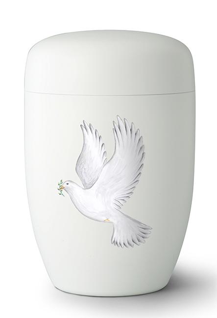 Biologische Abbaubare Öko Urne ´Fly Away´ Friedenstaube (4,0 Liter) Ökologische Urnen