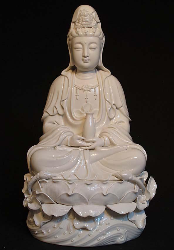 Große Chinesische Weibliche Buddha Urne Kwan Yin (6,0 Liter) Buddha Urnen