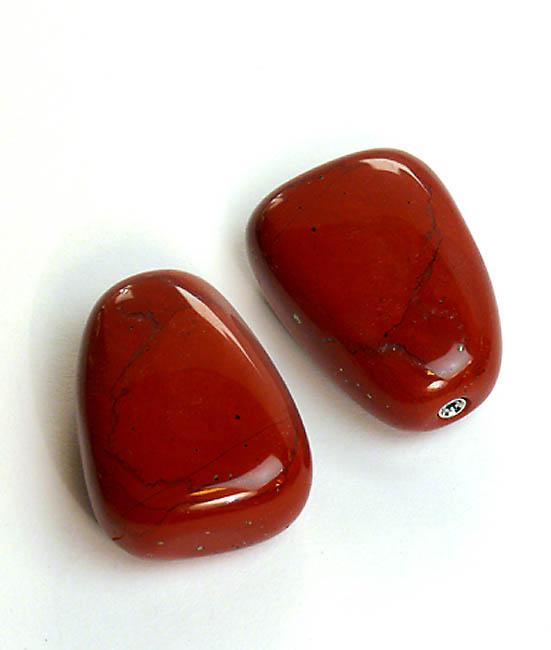 Liegender Gedenkstein Roter Jaspis (0,01 Liter) Mini Tierurnen aus Edelstahl