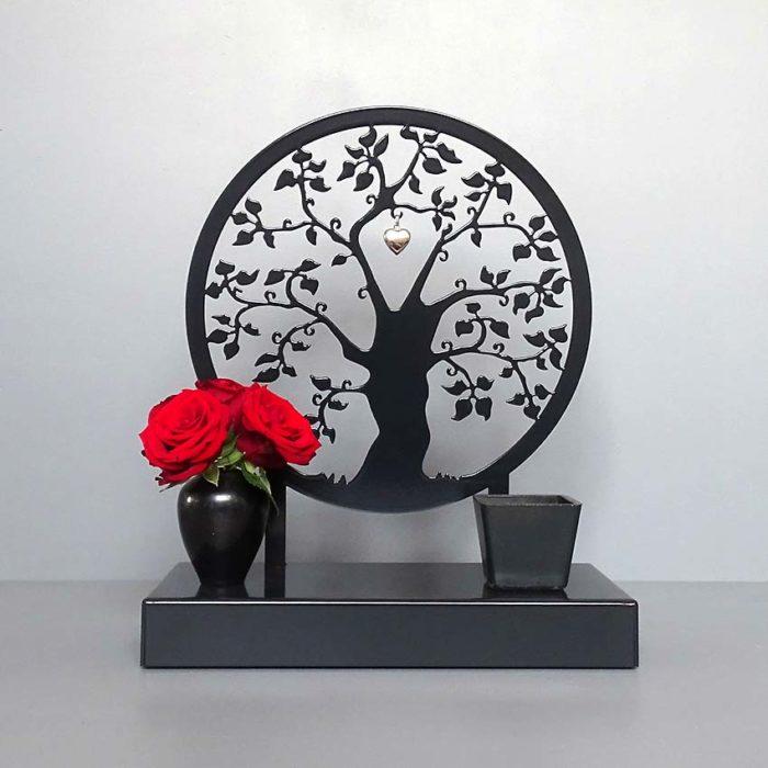 Tiergedenkaltar Erinnerungsbaum, Schwarz oder Weiß (1,8 l) Tierurnen