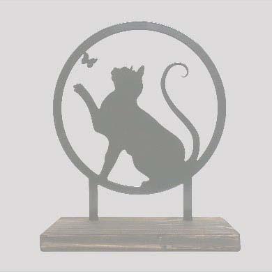 Tiergedenkaltar Verspielte Katze, RVS (28 cm) Tierurnen