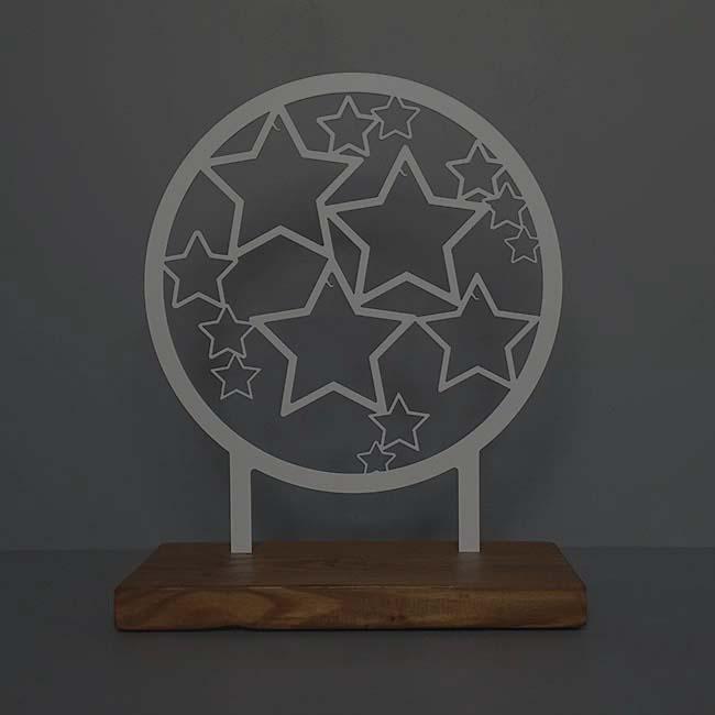 Tiergedenkaltar Sterne Voller Erinnerungen, RVS (28 cm) Tierurnen