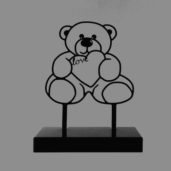 Tiergedenkaltar Teddybeer, Schwarz oder Weiß (3,0 l) Tierurnen