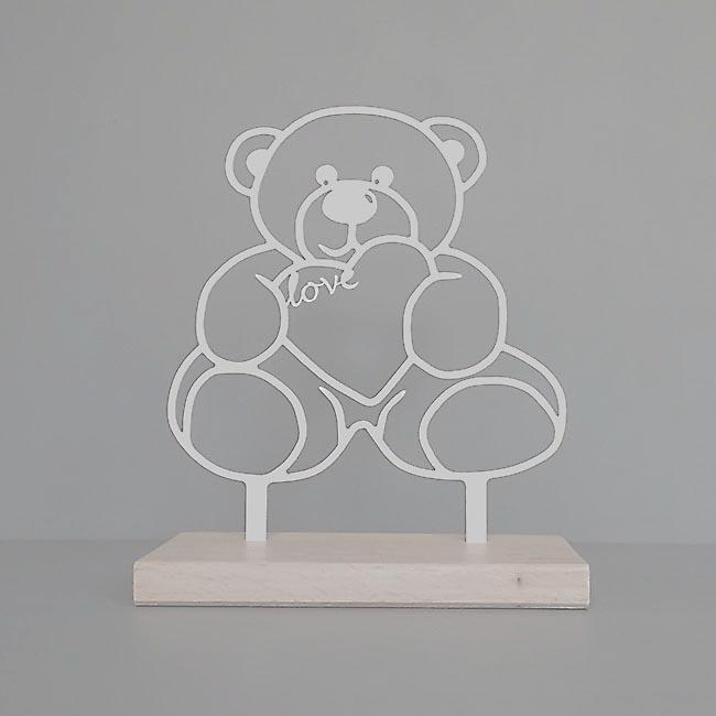 Tiergedenkaltar Teddybeer, RVS (28 cm) Tierurnen