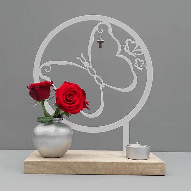 Tiergedenkaltar Mein Schmetteling, RVS (28 cm) Tierurnen