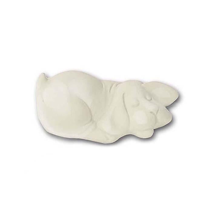 Mini Tierurne Schlafender Kleiner Hund, mehrfarbig (0,11 Liter) Tierurnen