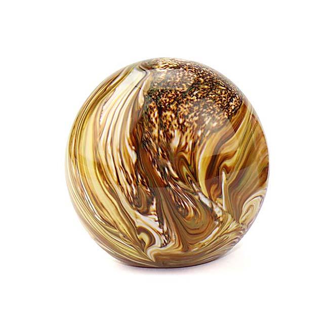 Kleine Glaskugel Tierurne Elan Marmor Erde (0,5 Liter) Glaskugelförmige Tierurnen