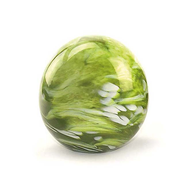 Kleine Glaskugel Tierurne Elan Marmor Grün (0,5 Liter) Glaskugelförmige Tierurnen