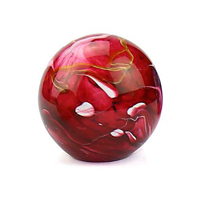 Kleine Glaskugel Tierurne Elan Marmor Rot (0,5 Liter) Glaskugelförmige Tierurnen