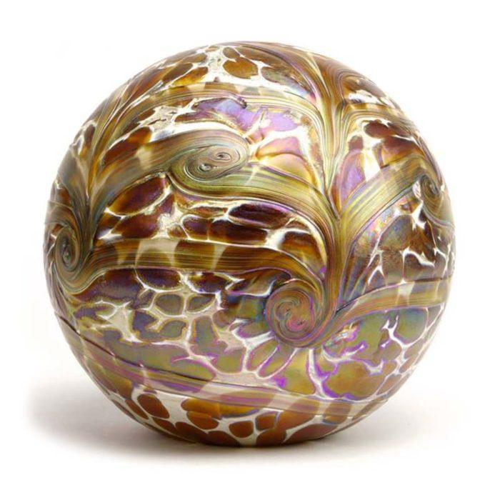 Große Glaskugel Tierurne Elan Gold (4,0 Liter) Glaskugelförmige Tierurnen