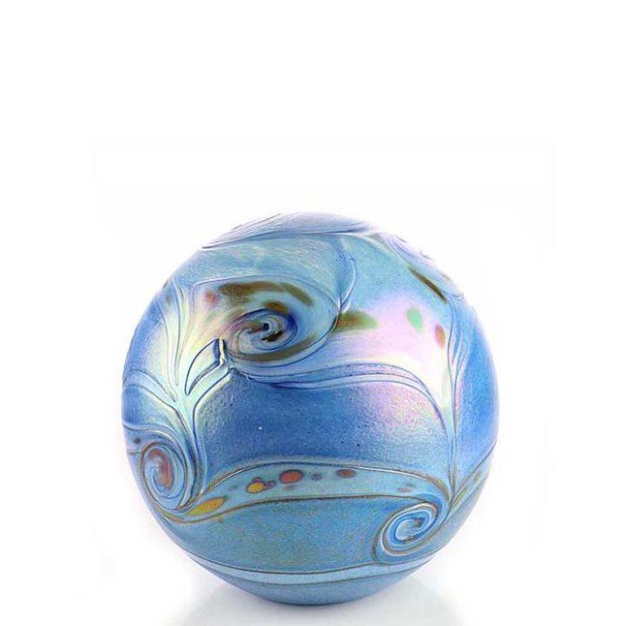 Kleine Glaskugel Tierurne Elan Blau (0,5 Liter) Glaskugelförmige Tierurnen