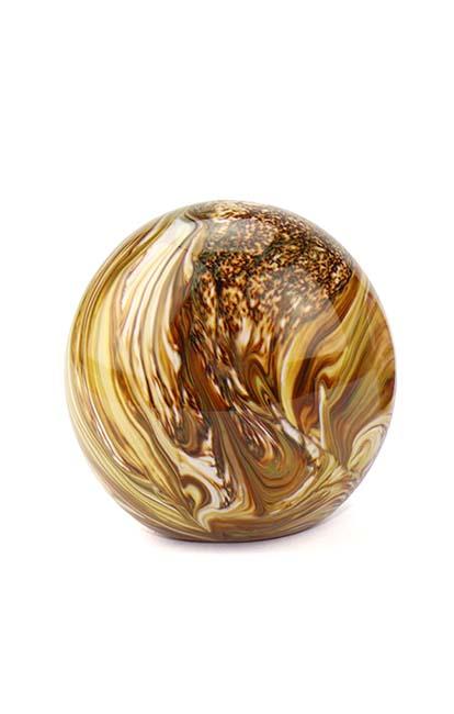 Mini Glaskugel Tierurne Elan Marmor Erde (0,1 Liter) Glaskugelförmige Tierurnen