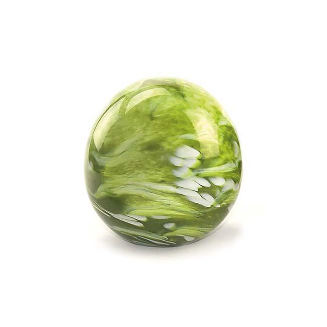 Mini Glaskugel Tierurne Elan Marmor Grün (0,1 Liter) Glaskugelförmige Tierurnen