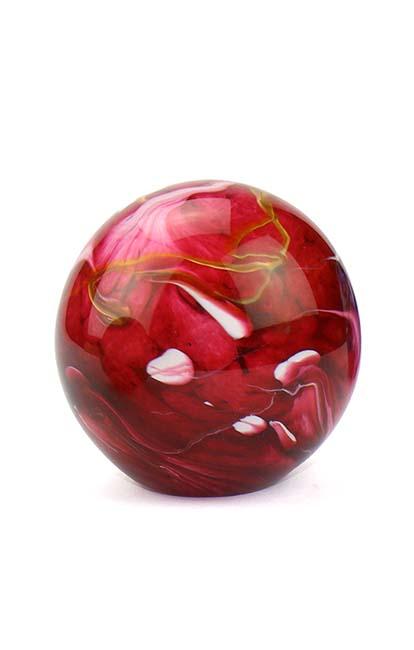 Mini Glaskugel Tierurne Elan Marmor Rot (0,1 Liter) Glaskugelförmige Tierurnen