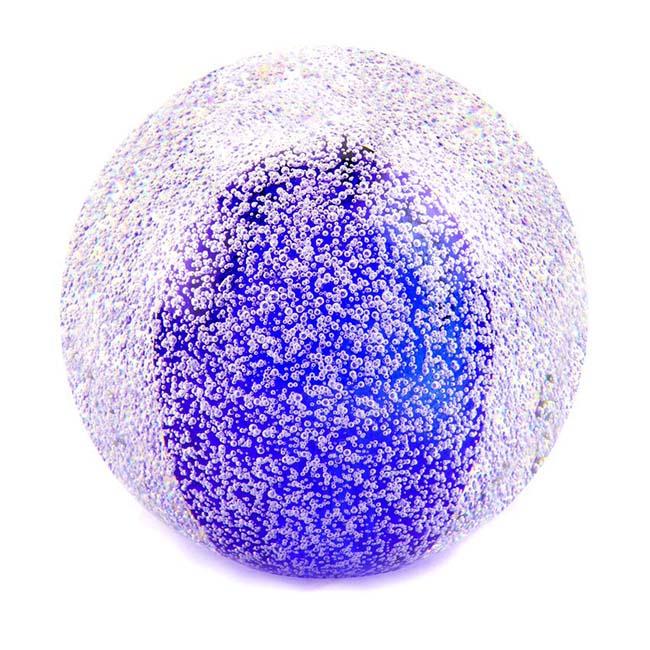 Glas MiniBall Tierurne Sternenstaubbirne Königsblau (0,08 Liter) Glaskugelförmige Tierurnen