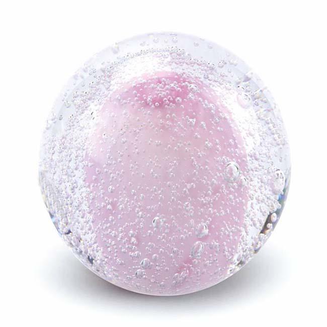 Glas MiniBall Tierurne Sternenstaubbirne Rosa (0,08 Liter) Glaskugelförmige Tierurnen